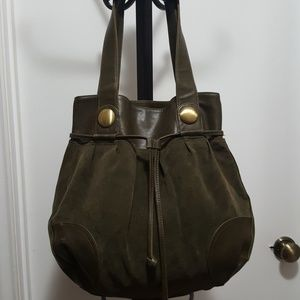 Avon Mark. Faux Suede Tote Bag